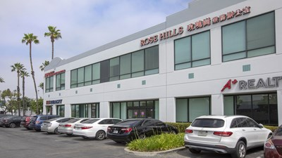 Exterior shot of Rose Hills Planning Center in City of Industry