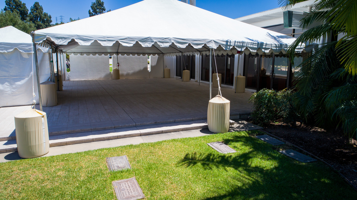 Rose Hills - Memorial Chapel Tent Side View